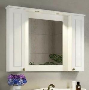 Зеркальный шкаф Comforty Палермо 120 белый глянец