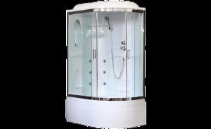 RB8120BK2-T-CH-L Душевая кабина Royal Bath/R 120 x 80 см, стекло прозрачное