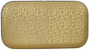 Корзина для белья Cameya FBA-BG, бронза цветы, большая, глубокая