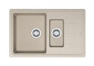 114.0280.882 Мойка Franke BASIS BFG 651-78,, гранит, установка сверху, оборачиваемая, цвет сахара, 78*50 см
