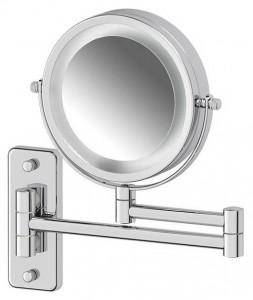 Настенное косметическое зеркало Defesto Pro DEF 102 двустороннее с 3-х кратным увеличением и подсветкой