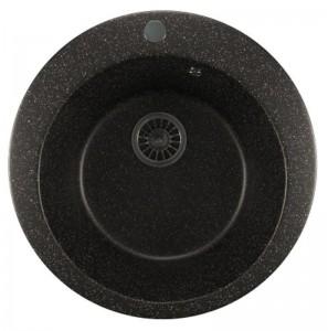 ML-GM13 (308) Кухонная мойка Mixline, врезная сверху, цвет - черный, 49.5 х 49.5 х 19 см
