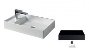 SCL003 17; 00 Раковина ArtCeram Scalino 60, накладная, цвет - черный матовый, 60 х 38 х 11,5 см