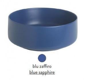 COL002 16; 00 Раковина ArtCeram Cognac, накладная, цвет - blu zaffiro (синий сапфир), 48 х 48 х 12,5 см