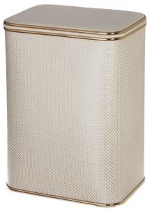 Корзина для белья Cameya KLG-М, светлые квадратики, кант золото, средняя