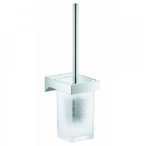 40857000 GROHE Selection Cube Туалетный ёршик в комплекте с держателем, хром матовый