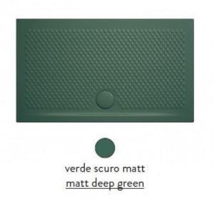 PDR022 30; 00 Поддон ArtCeram Texture 140 х 80 х 5,5 см,, прямоугольный, цвет - verde scuro matt (темно-зеленый), из искусственного камня