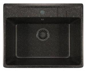 ML-GM15 (308) Кухонная мойка Mixline, врезная сверху, цвет - черный, 56 х 50.5 х 20 см