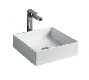 SCL001 01; 00 Раковина ArtCeram Scalino 38, накладная, цвет - белый глянцевый, 38 х 38 х 11.5 см