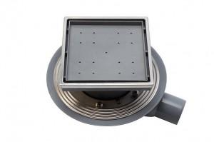 13000085 Трап водосток Pestan Confluo Standard Ceramic 1 150*150 Ceramik под плитку с рамкой сталь