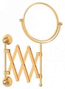 Настенное косметическое зеркало 3SC Stilmar STI 220двустороннее с 2-х кратным увеличением, золото