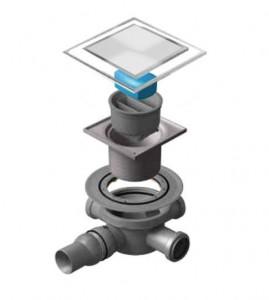 13000106 Трап водосток Pestan Confluo Standard Dry 3 White Glass 100*100 мм белое стекло нержавеющая сталь с рамкой