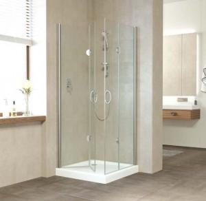 2GPS Lux 80*80 05 R05 Душевой уголок Vegas Glass 2GPS Lux, 80 x 80 см, профиль бронза, стекло флёр-де-лис