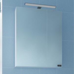 Зеркальный шкаф СаНта Стандарт 70 113009, цвет белый, с подсветкой