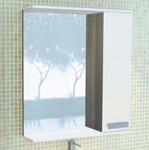 Зеркальный шкаф Comforty Манчестер 60 L/R белый/венге