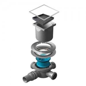 13000087 Трап водосток Pestan Confluo Standard Ceramic 3 150*150 Ceramik под плитку с рамкой сталь