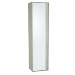 Пенал Vitra Metropole 61298/61299 40 см, левосторонний/правосторонний, цвет серебристый дуб, фасад белое акриловое стекло