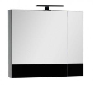 Зеркало-шкаф Aquanet Верона 75 (камерино) 00175385, цвет черный