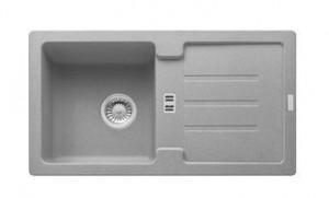 114.0312.546 Мойка Franke STRATA STG 614,, гранит, установка сверху, оборачиваемая, цвет серый, 78*43,5 см