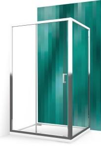 556-1000000-00-02/553-1000000-00-02 Душевой уголок Roltechnik Lega Line, 100 х 100 см, дверь раздвижная, стекло прозрачное