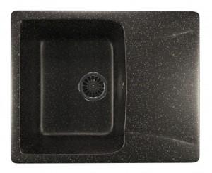 ML-GM26 (308) Кухонная мойка Mixline, врезная сверху, цвет - черный, 59 х 48 х 19 см