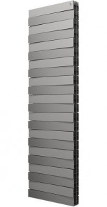 Радиатор биметаллический Royal Thermo PianoForte Tower Silver Satin, 22 секции, серебро