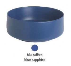 COL001 16; 00 Раковина ArtCeram Cognac Countertop, накладная, цвет - blu zaffiro (синий сапфир), 42 х 42 х 16 см