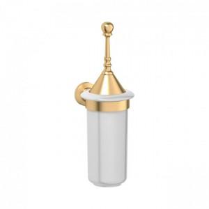 Держатель с ершиком для туалета 3SC Stilmar STI 224 с крышкой, золото
