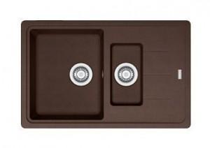114.0280.883 Мойка Franke BASIS BFG 651-78,, гранит, установка сверху, оборачиваемая, цвет шоколад, 78*50 см