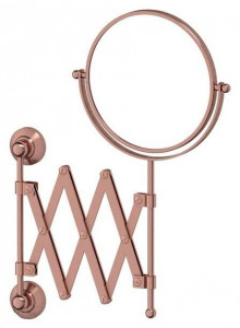 Настенное косметическое зеркало 3SC Stilmar STI 620 двустороннее с 2-х кратным увеличением, античная медь