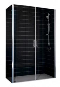 E2P-Fis 80*90 05 R04 Душевой уголок Vegas Glass E2P-Fis бронзовый профиль, стекло зебра, 80 x 90 x 190 см