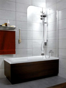 201202-101NR Шторка на ванну Radaway Torrenta PND 100 прозрачное стекло R