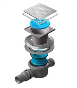 13000077 Трап водосток Pestan Confluo Standard Drops 2 Mask 150*150 мм нержавеющая сталь с рамкой