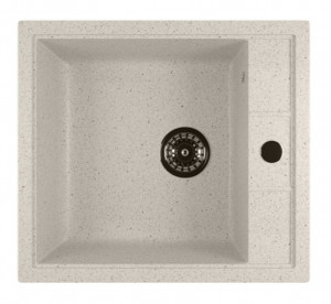 ML-GM28 (331) Кухонная мойка Mixline, врезная сверху, цвет - белый, 51 х 46 х 19 см