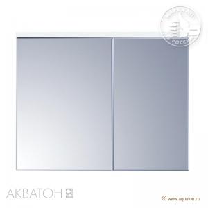 Шкаф-зеркало Акватон Брук 100, 1A200702BC010 со светильником