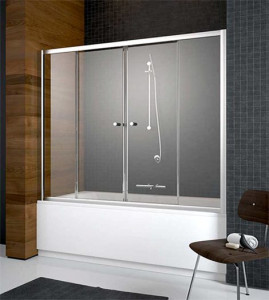203170-01 Шторка на ванну Radaway Vesta DWD 170 прозрачное стекло