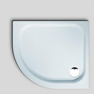 6417 Душевой поддон Hoesch ARMADA 100 x 90 x 6,5 см,, полукруглый, ассиметричный, R530, из искусственного камня