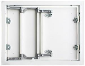 Люк под плитку Практика Формат-М 50/50, ширина 50, высота 50, стальной, трехзвенная петля, сдвижная дверца