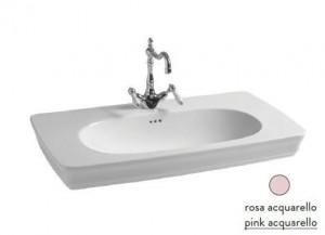 CIL002 33; 00 Раковина ArtCeram Civitas, подвесная, цвет - pink acquarello (розовый), 90 х 50 х 18 см