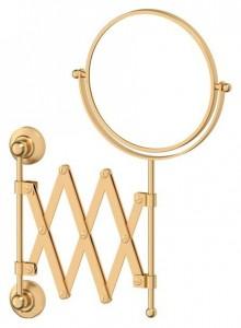 Настенное косметическое зеркало 3SC Stilmar STI 320 двустороннее с 2-х кратным увеличением, матовое золото