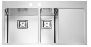 1084295 Мойка кухонная Alveus STYLUX 60 SAT-90K 860 x 510, левый/правый