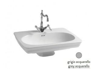 CIL001 34; 00 Раковина ArtCeram Civitas, подвесная, цвет - grey acquarello (серый), 68 х 49,5 х 22 см