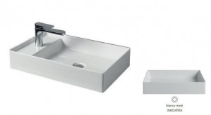 SCL003 05; 00 Раковина ArtCeram Scalino 60, накладная, цвет - белый матовый, 60 х 38 х 11,5 см