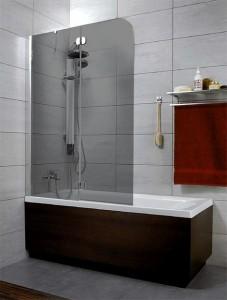 201202-105NL Шторка на ванну Radaway Torrenta PND 100 стекло графит L