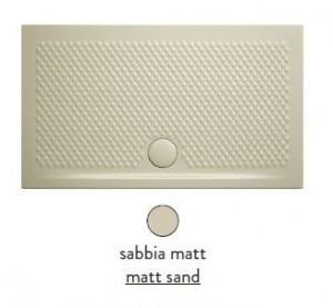 PDR019 31; 00 Поддон ArtCeram Texture 100 х 80 х 5,5 см,, прямоугольный, цвет - sabbia matt (бежевый), из искусственного камня
