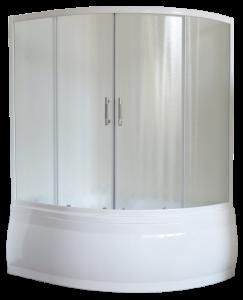 RB140ALP-Cлевый Шторка на ванну Royal Bath Alpine RB 140ALP-С 140 см, стекло шиншилла, левая/правая