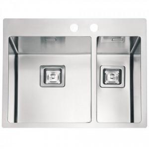 1084279 Мойка кухонная Alveus STYLUX 20 SAT-90K 595 x 510, левый/правый