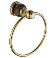 Полотенцедержатель-кольцо Radomir Линия с камнем, хром