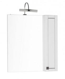 Зеркало-шкаф Aquanet Честер 85 00186400, цвет белый, патина серебро