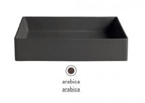 SCL001 25; 00 Раковина ArtCeram Scalino 38, накладная, цвет - arabica, 38 х 38 х 11.5 см